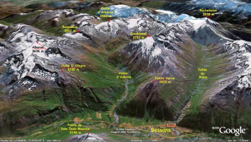 La vallée de l'Arc et Bessans