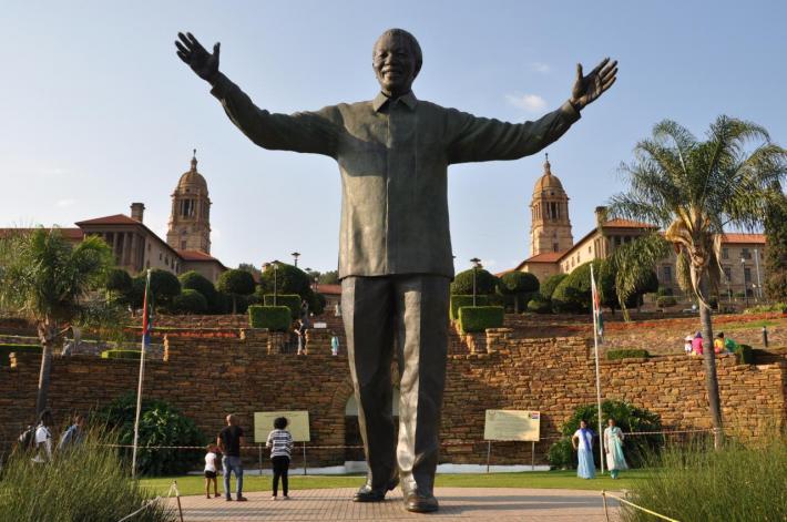 Statue de Nelson Mandela à Prétoria