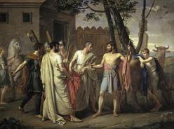 Cincinnatus abandonne sa charrue pour dicter les lois de rome ribera 1856