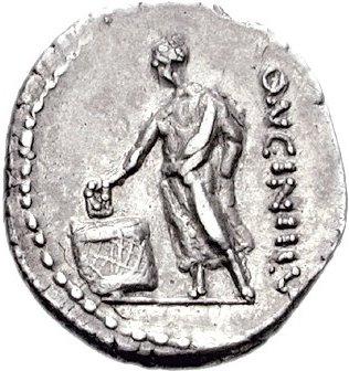 Citoyen romain votant pour un plebiscite sa tablette porte la lettre v pour vti rogas comme tu demandes c est a dire oui