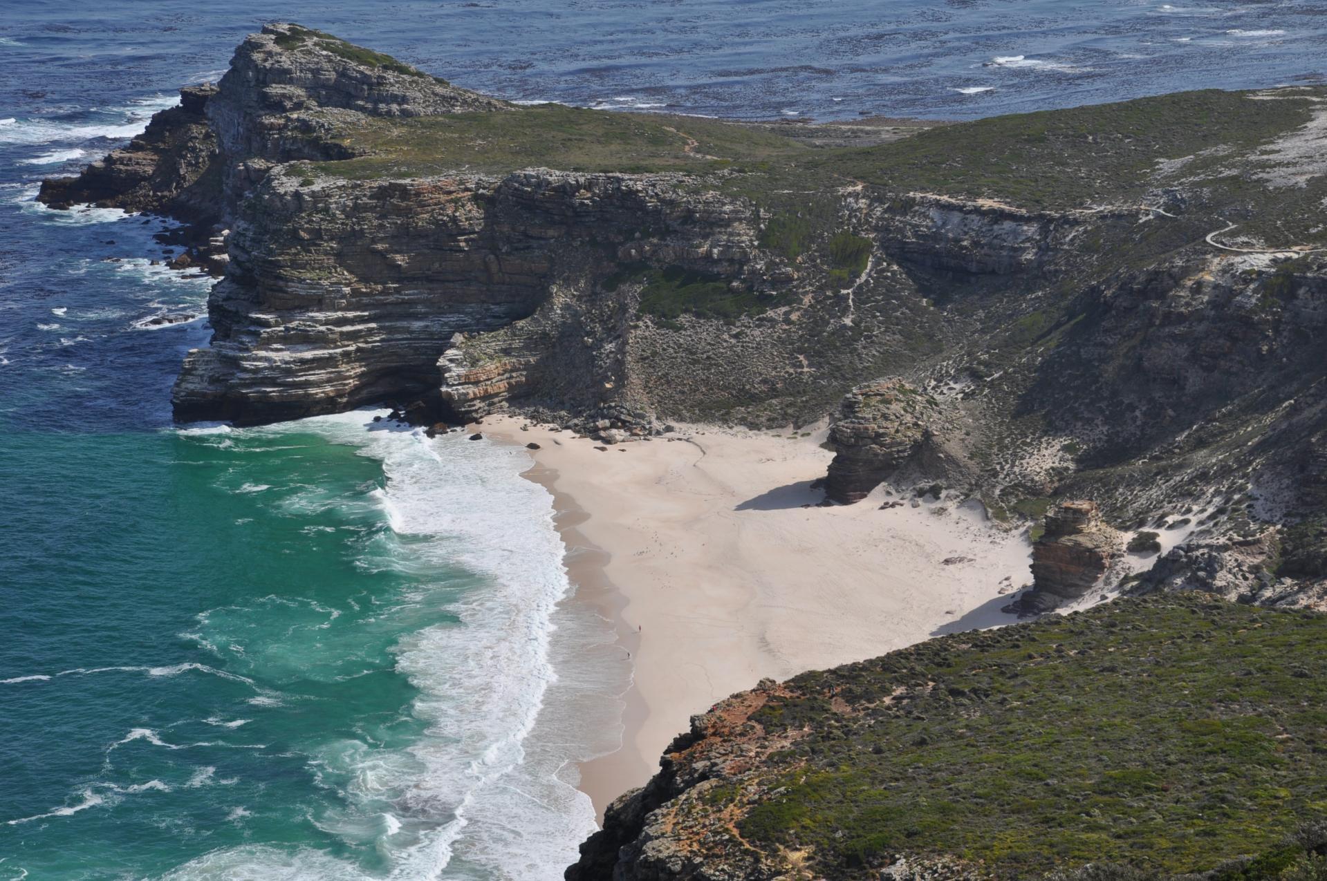 la plage au Cap de Bonne-Espérance