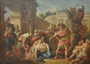 Horace venant de frapper sa soeur lagrenee