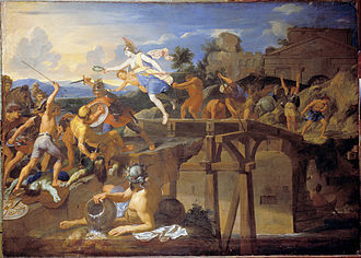 Horatius cocles defendant le pont sublicius charles le brun 16433