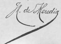 Jose maria de heredia french poet signature
