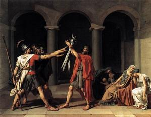Le serment des horaces jacques louis david