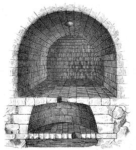 Prison mamertine tullianum coupe schematique du tullianum le cachot inferieur est traditionnellement celui des condamnes a mort