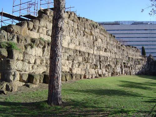 Servius tullius muraille servienne gare termini de rome
